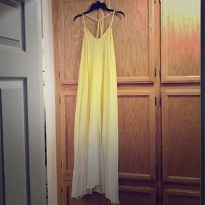 Yellow Ombre Long dress